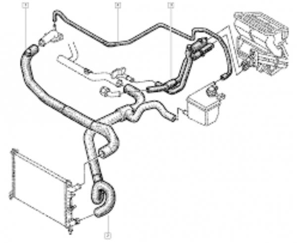 Mangueira Aquecimento Renault Laguna 16V