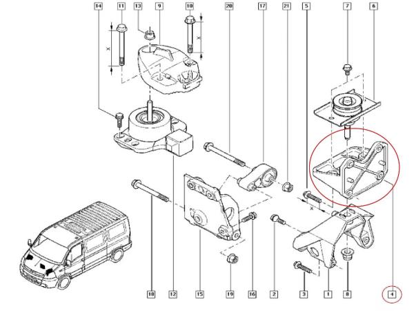 Suporte do Coxim do Motor Renault Master 2.5