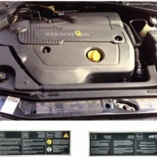 Adesivo Cofre do Motor Renault Logan Sandero - 8200868839