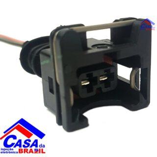 Conector Chicote Bico Injetor Sensor Temp. Atuador 2 Vias