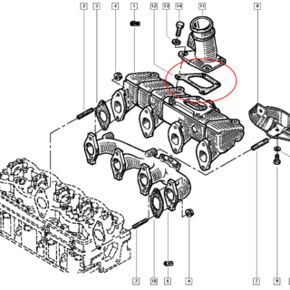 Junta do Coletor de Admissão Renault Master S9W - 7701035924