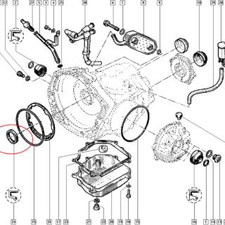 Retentor do Oleo da Transmissão Automatica Linha Renault - 7703087157