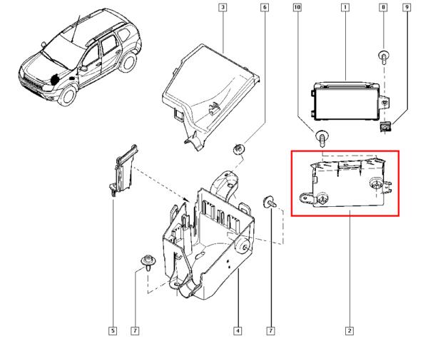 Suporte do Modulo Renault Duster - 284C20205r