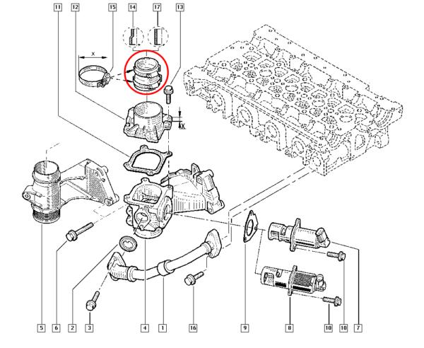 Mangueira de Ar Intercooler Renault Master - 7701068969