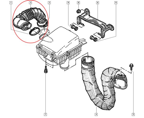 Mangueira do Filtro de Ar Renault Master -  8200135964