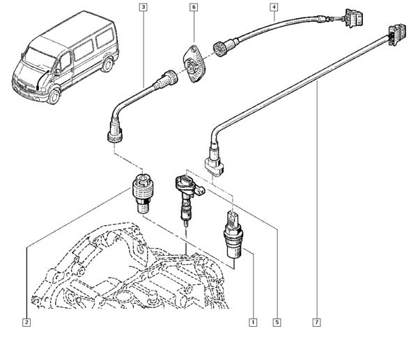 Sensor De Velocidade Renault Master - 250920061r