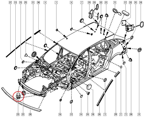 Limitador do Capo Renault Master Megane Trafic - 8200269601