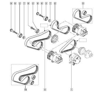 8200830192 correia direção hidraulica renault clio ii 1.0 8v 16v 00 a 16